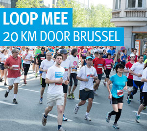 Loop mee de 20 km door brussel