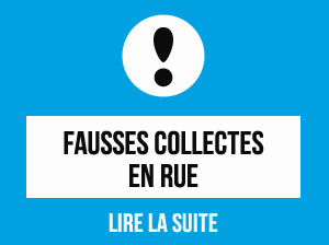 fausses collectes en rue