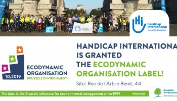 Handicap International, une ONG écodynamique !