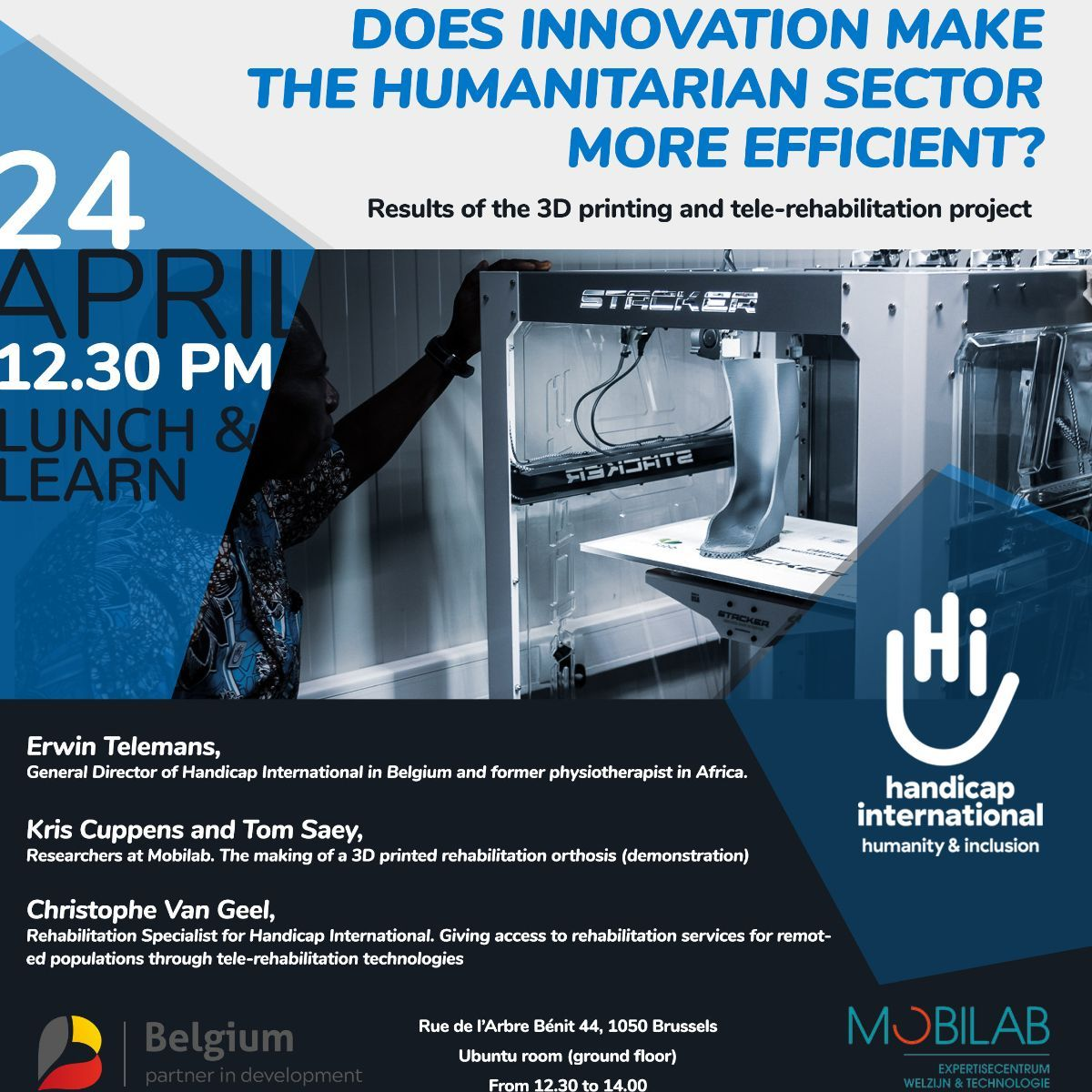 Invitation for the Lunch & Learn on innovation in the humanitarian sector