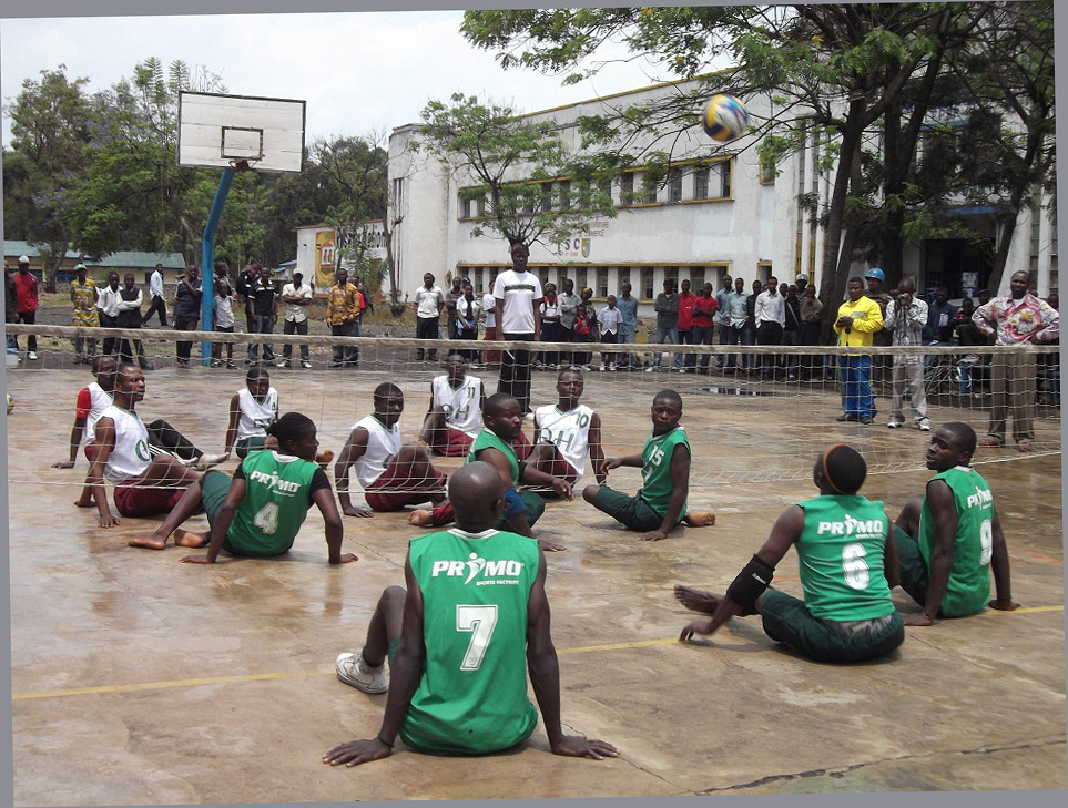 zitvolleybalspelers in Goma